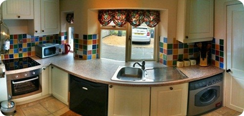 HDR Panorama of Hollyberry Cottage kitchen