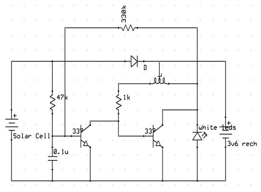Simple solar circuit